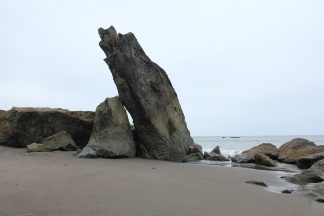 Leaning rock formation