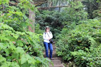 Jan on Second Beach Trail