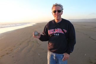 Phil with sand dollar