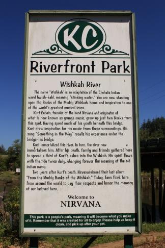Kurt Cobain Memorial Park sign