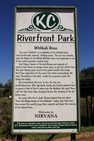 Kurt Cobain Memorial Park sign