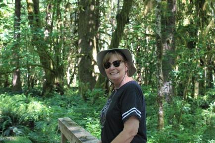 Jan on Maple Glade Trail