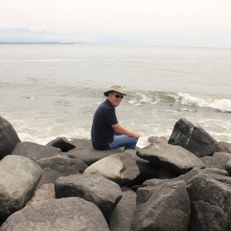 Phil sitting on North Jetty