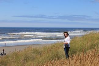 Jan overlooking Ocean Shores beach