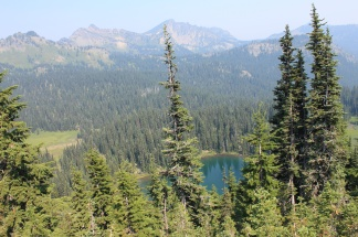 View of Reflection Lake from overlook