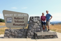 Phil and Jan at Mount St. Helens sign