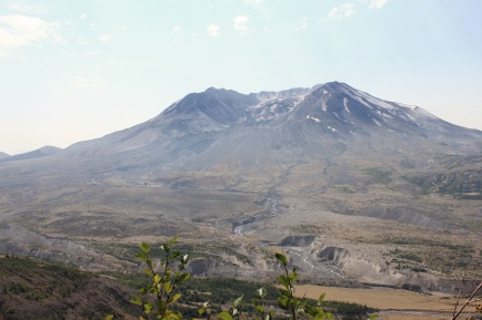 View of Mount St. Helens crater and blast zone