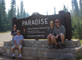 Entrance sign at Paradise