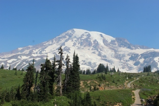 View of Mt. Rainier from Skyline Trail
