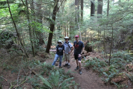 Phil, Jan and Jarrod on Twin Firs Trail
