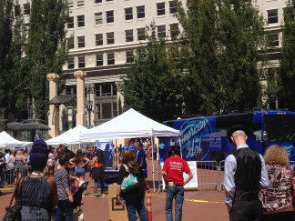 American Idol auditions at Pioneer Courthouse Square