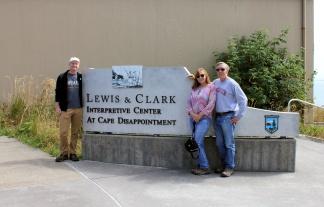 Jason, Jan and Phil at Lewis & Clark Interpretive Center