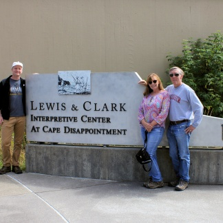 Jason, Jan and Phil at Lewis & Clark Interpretive Center