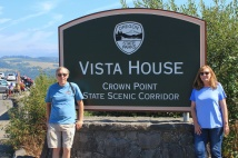 Phil and Jan at Vista House sign
