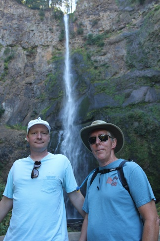 Jason and Phil at Multnomah Falls