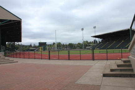 View of Hayward Field track
