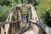 Phil on Adkinson Bridge along Water Garden Trail