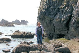 Jan on rocks