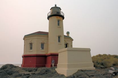 Jan at Coquille River Lighthouse