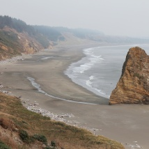 View of beach from Cape Blanco Lighthouse