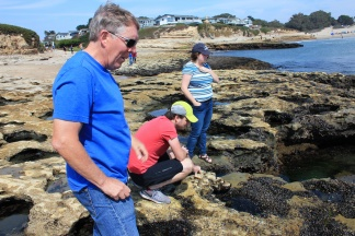 Phil, Bill & Alison exploring tidepool