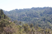 View of Pfeifer Canyon Bridge being repaired