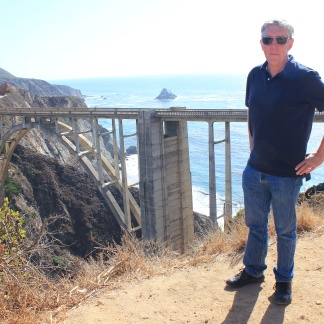 Phil at Bixby Creek Bridge, built 1932