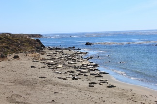 View down beach at Piedras Balancas