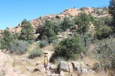 Phil hiking Lakeshore Trail