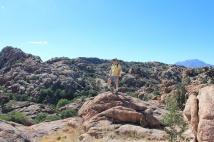 Phil on rock in Granite Dell