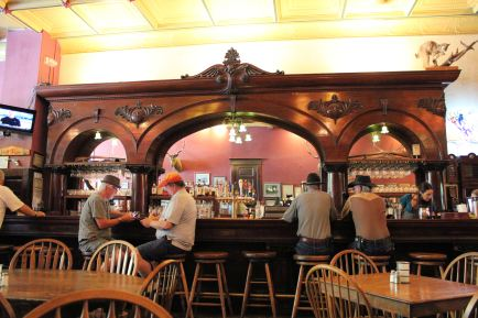 The bar at The Palace Saloon