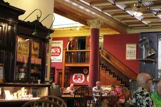 Action upstairs at The Palace Saloon