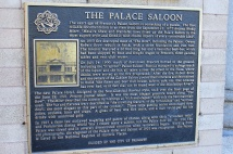 The Palace Saloon plaque