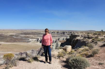Jan at Blue Mesa loop overlook