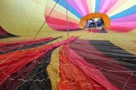 View inside balloon being inflated
