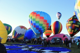 Balloons being inflated