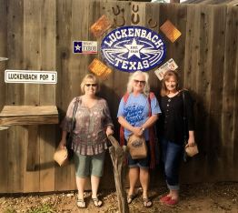 Jan, Sheila and Michelle at Luckenbach, TX