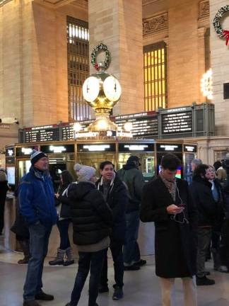 Opal-Faced clock in Grand Central Terminal