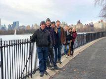 Group shot at Jacqueline Kennedy Onassis Reservoir