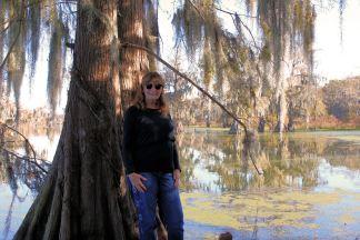 Jan on edge of Lake Martin