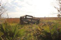 Broken off section of Alligator Marsh Boardwalk