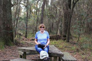Jan taking a break during hike