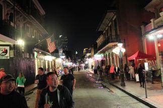 View down Bourbon Street