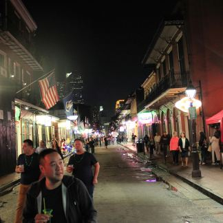View down Bourbon Street