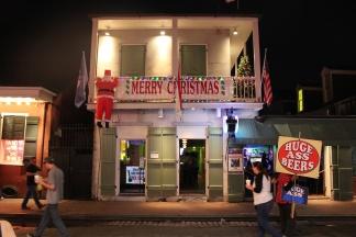 Santa visiting Bourbon Street