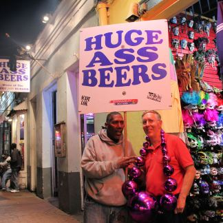 Phil with new friend on Bourbon Street