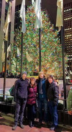 Phil, Jan, Jason and Jarrod at Rockefeller Center tree
