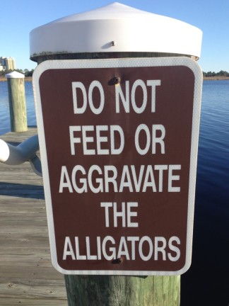 Sign by Middle Lake