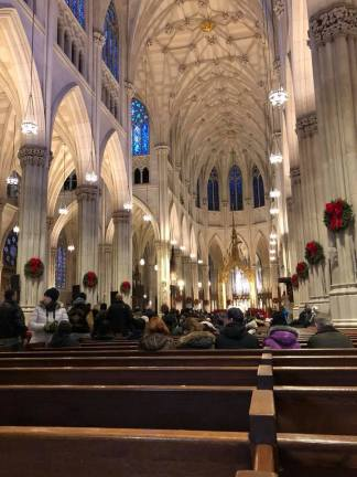 View from front of St. Patrick's Cathedral
