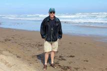 Phil on beach